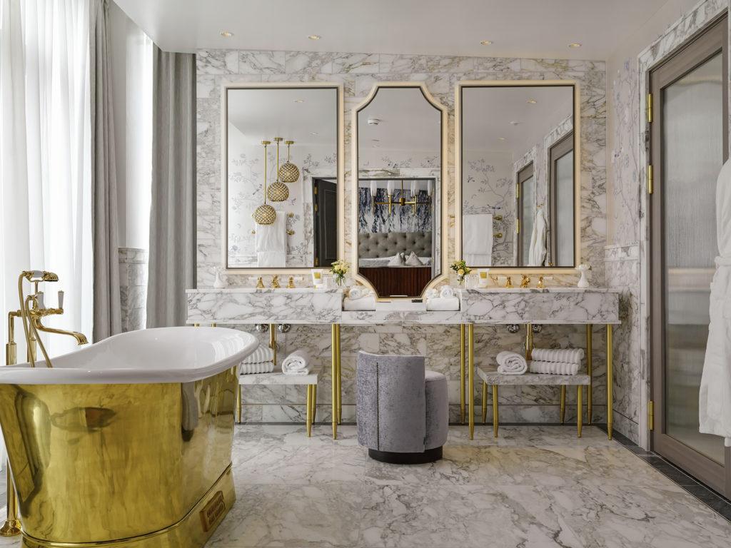 Bathroom in Tower Suite at Britannia Hotel