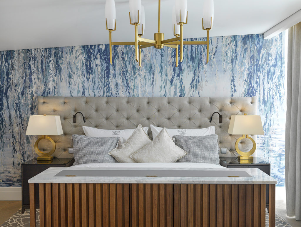 Hastens bed in Tower Suite at Britannia Hotel