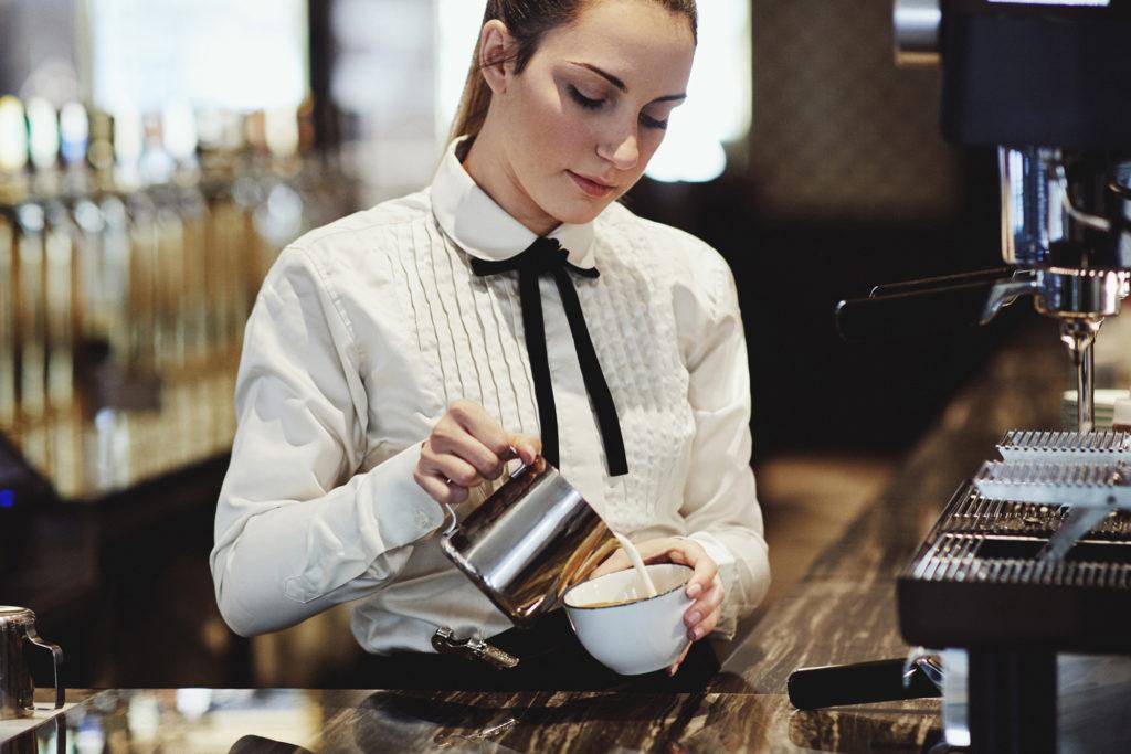 coffee in Brasserie Britannia