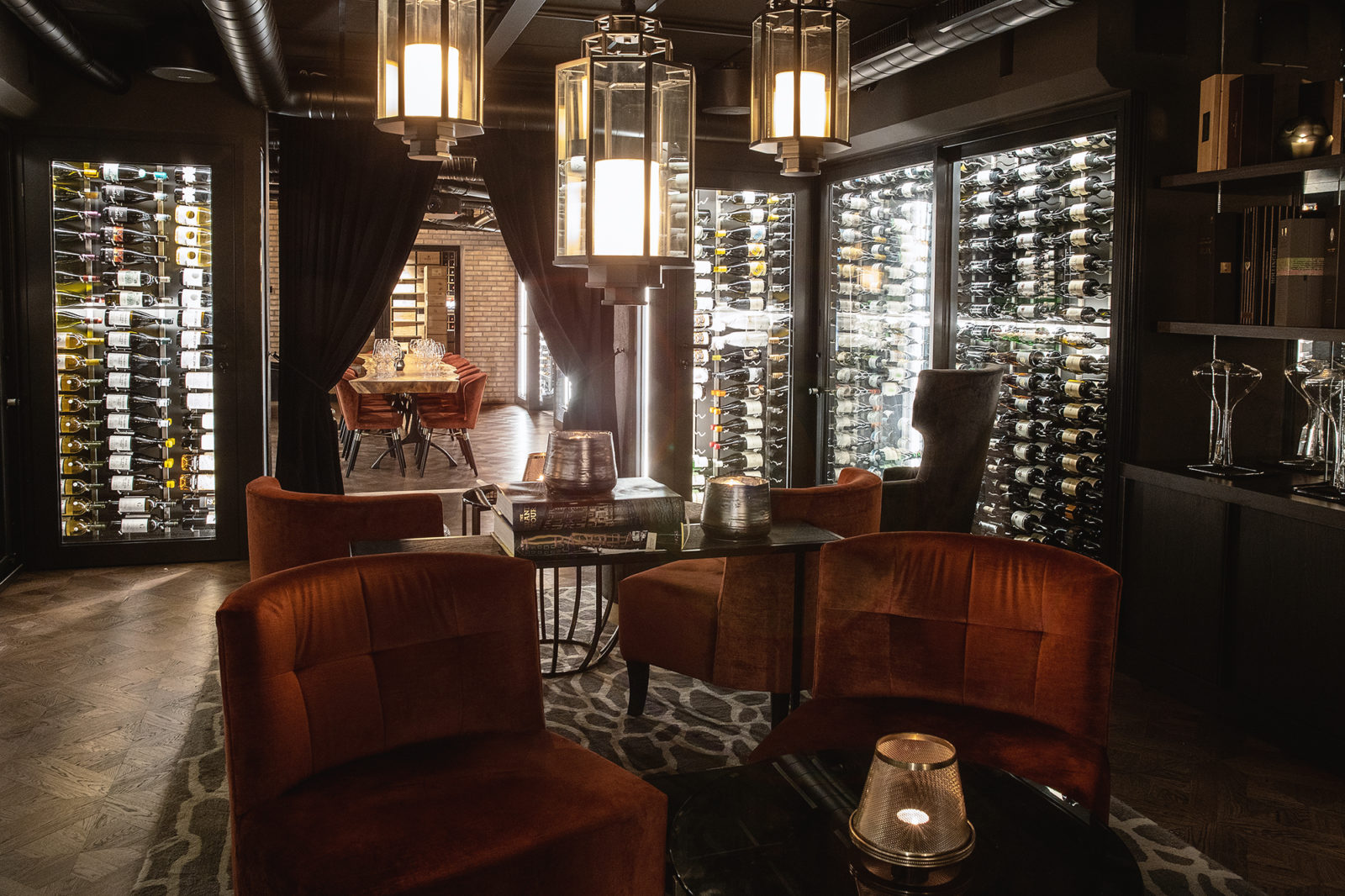 Britannia Hotel's open wine cellar, Vinbaren, lined by 10,000 of the world's best bottles of wine.