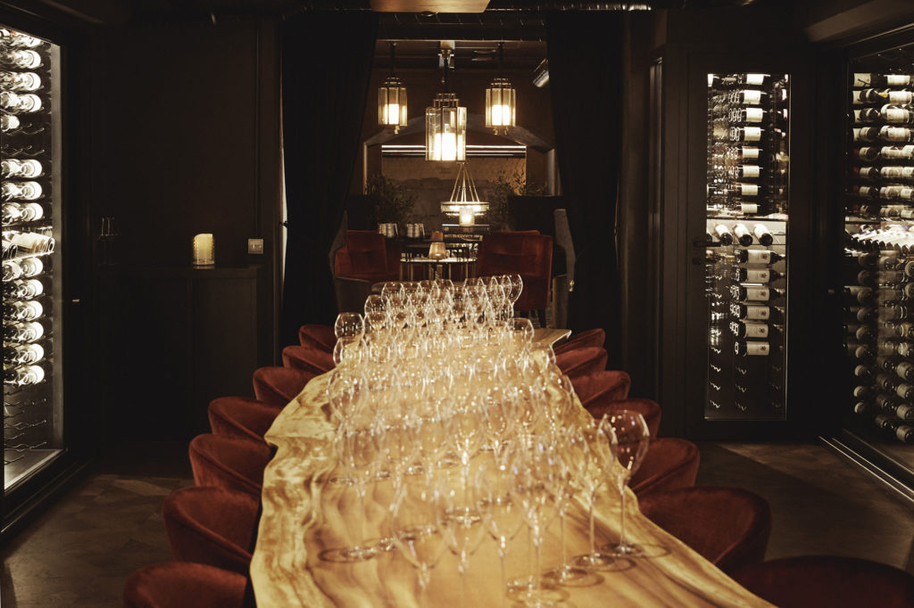 britannia Hotel's wine bar and th tasting room