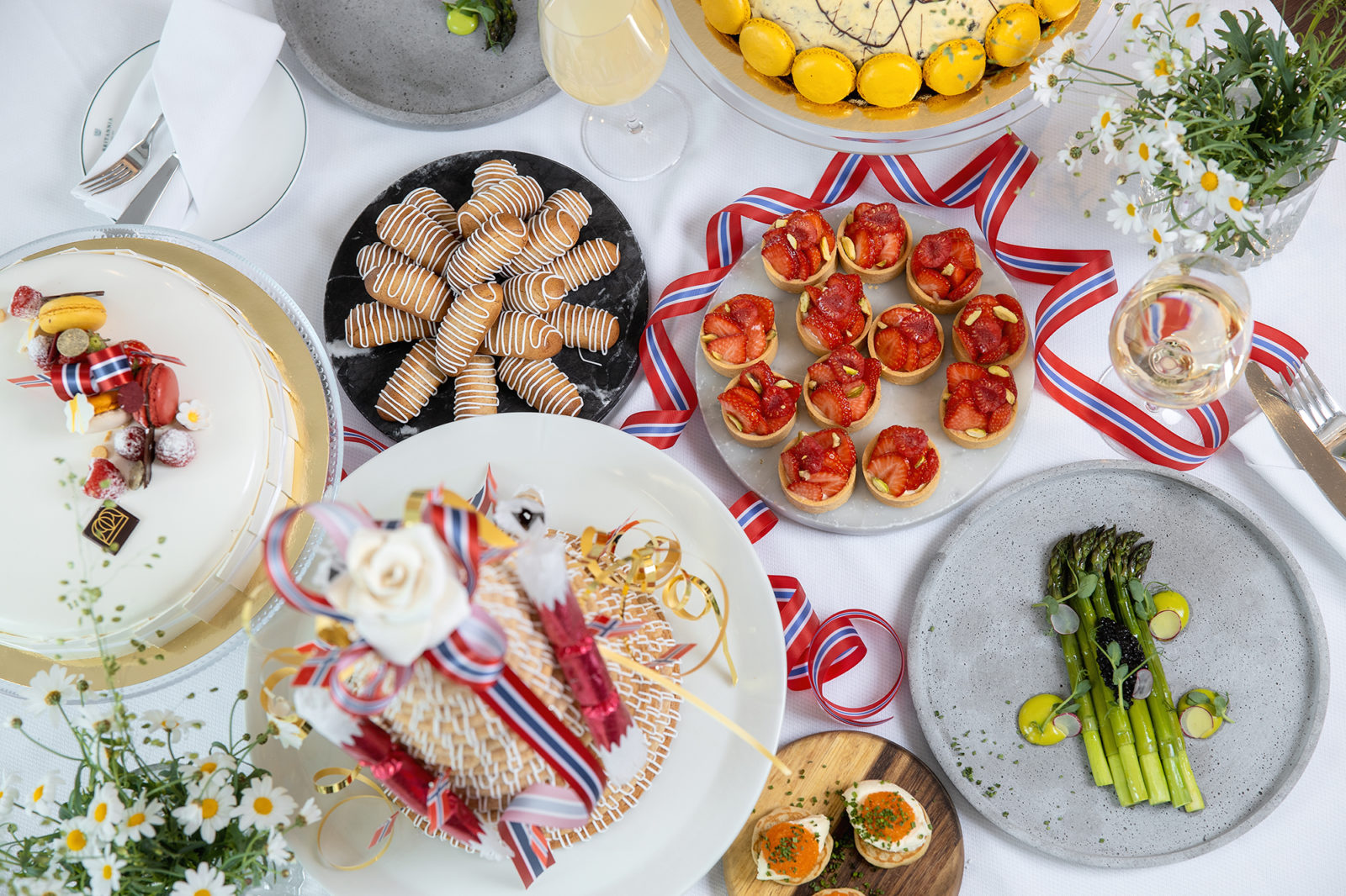 Britannia Hotel's 17th May buffet for take away, with savoury and sweet favourites