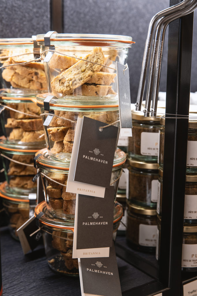 jars of biscotti, produced by the pastry team from Palmehaven in Britannia Hotel, Trondheim.