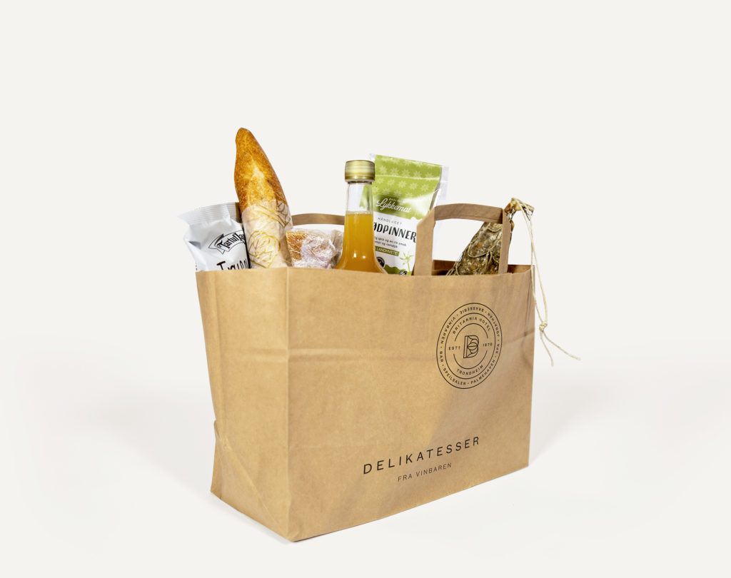 a bag of deli items from Vinbaren