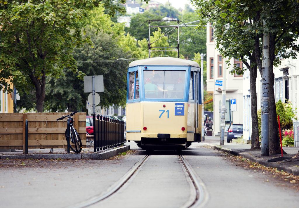 old tram in Trondheim