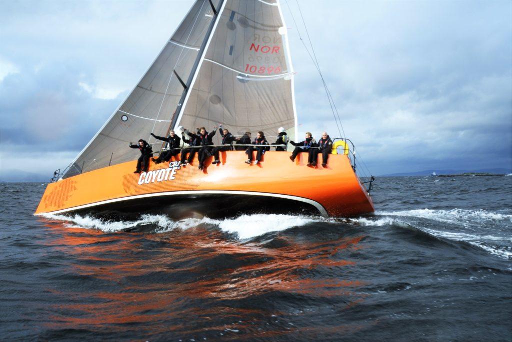 sailing on Trondheim fjord