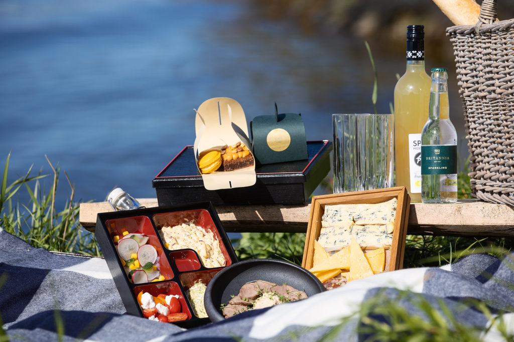 picnic on coastline