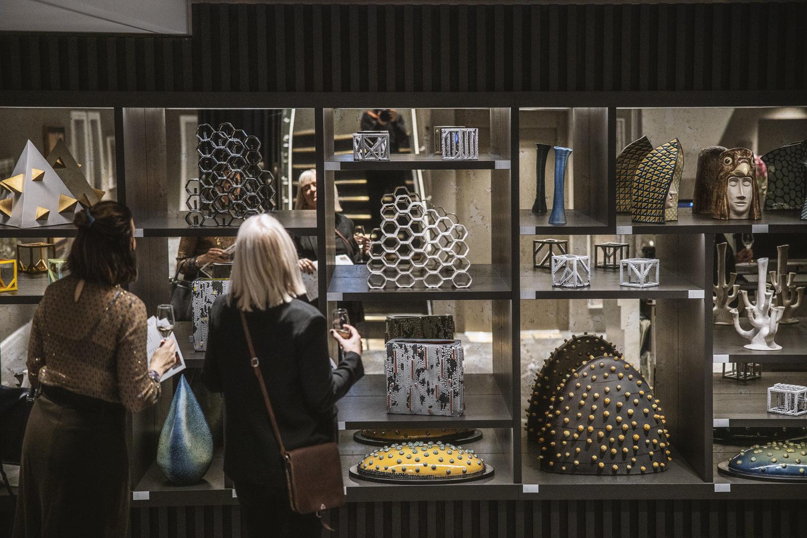 opening of ceramic artists Liv Aursand and Per Lysgaard, exhibiting at Britannia Hotel