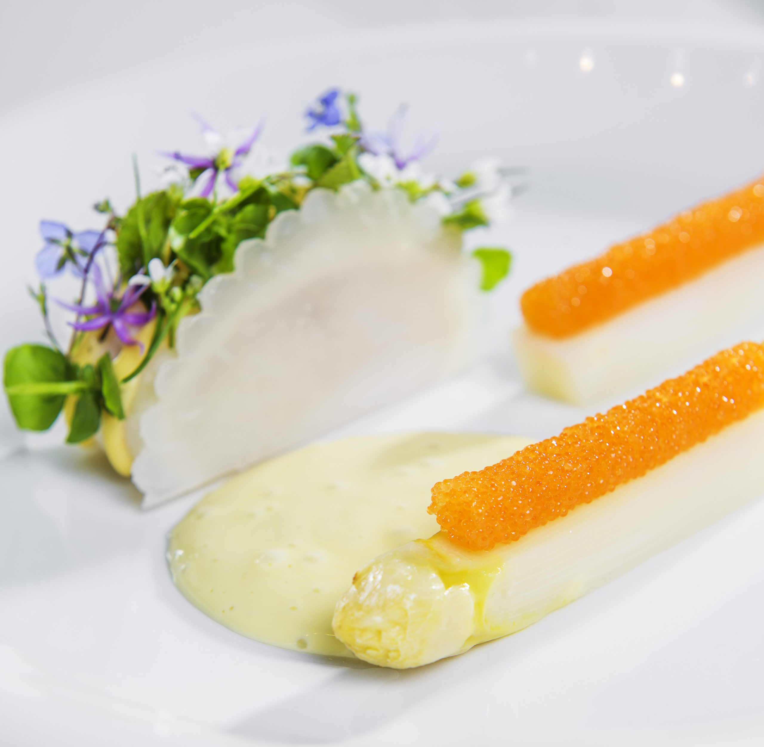 Speilsalen's Darling Buds Of may turbot dish