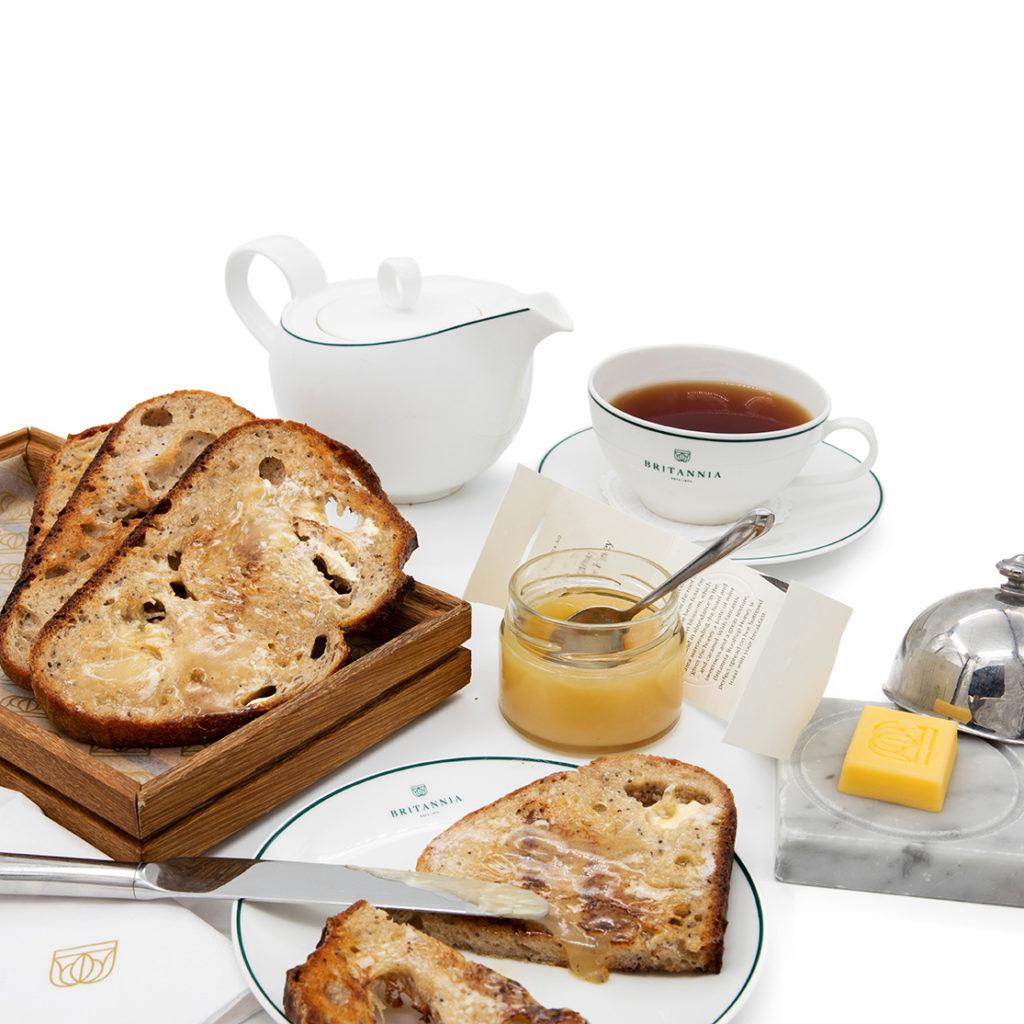 britannia honey on toast