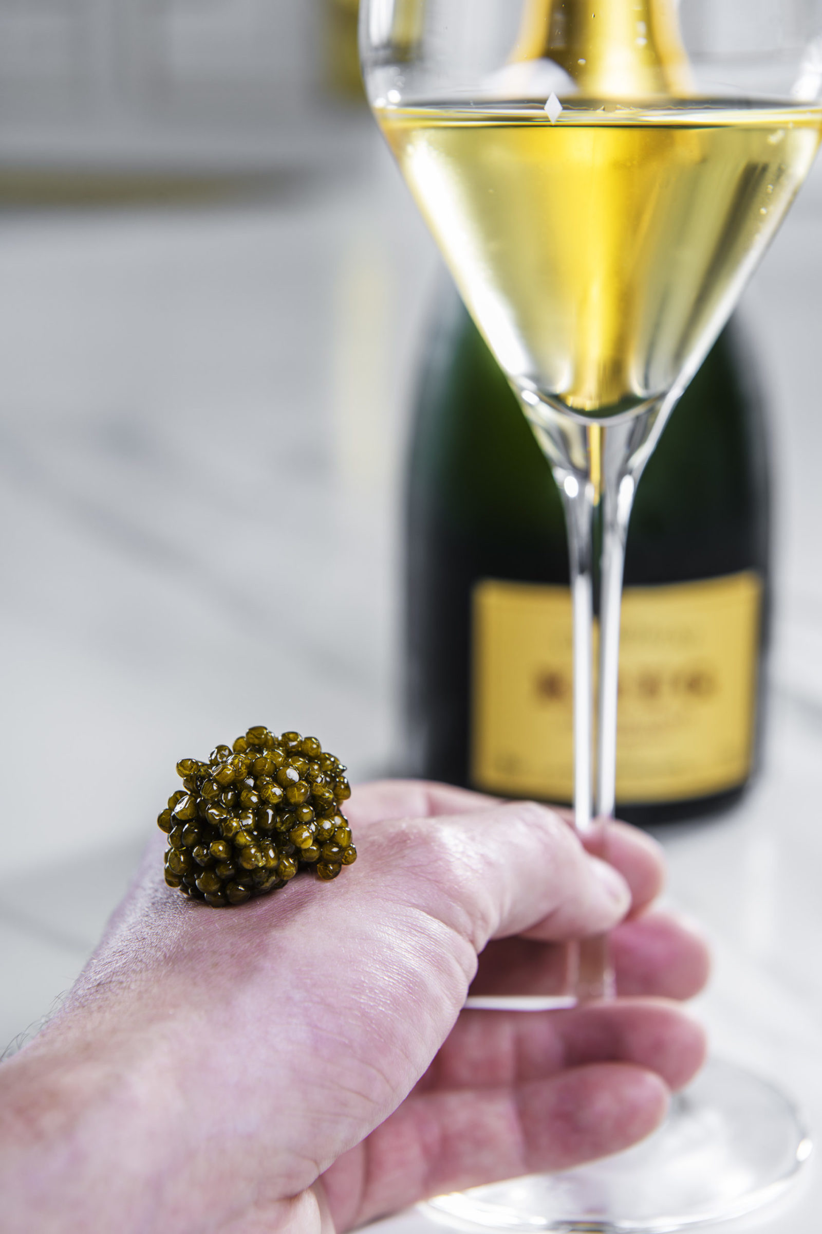 Kaviar og champagne