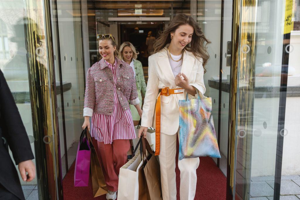 Friends shopping at Britannia Hotel