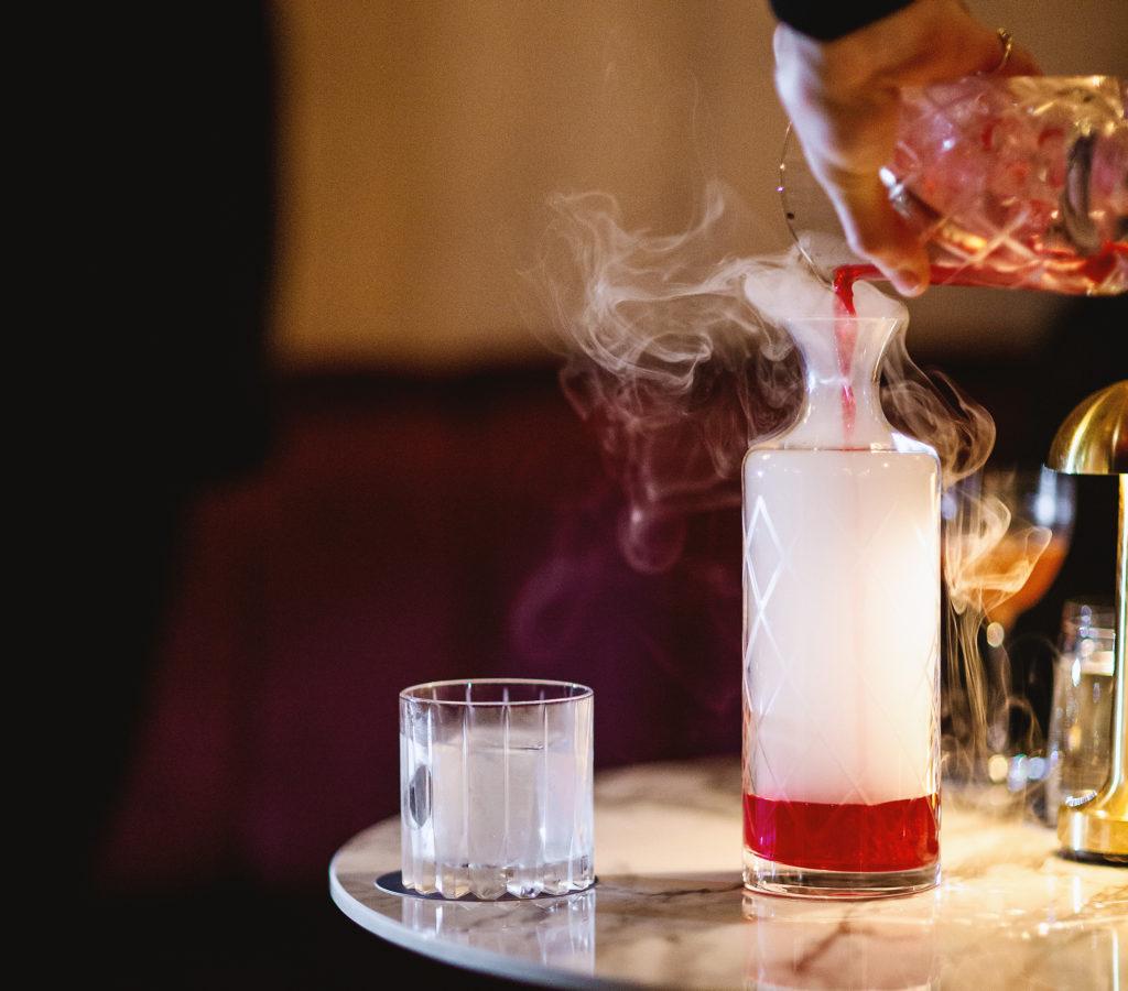 smoke cocktail Britannia Bar
