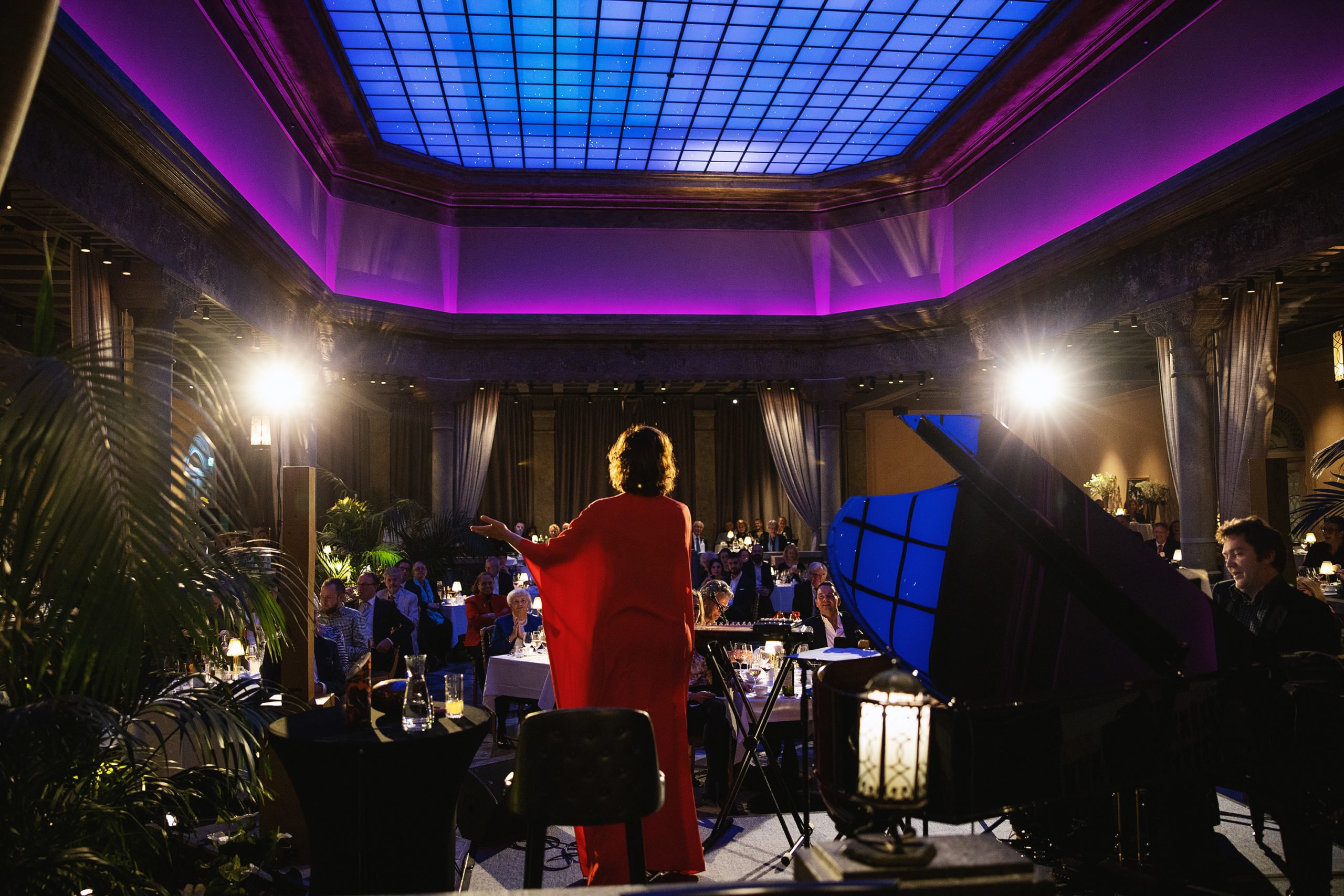 Sissel Kyrkjebø performing in Britannia's Palmehaven
